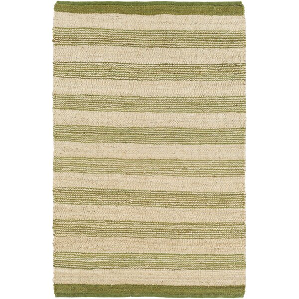 Ayling Hand-Woven Lime/Beige Area Rug by Winston Porter