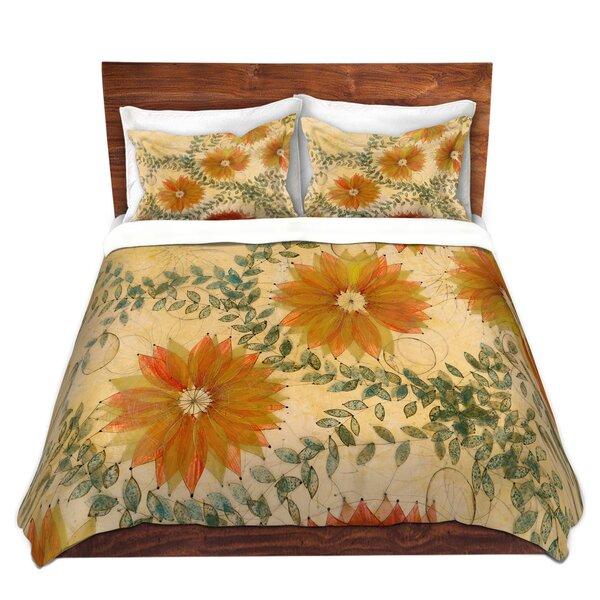 Orange Flower Pattern Duvet Cover Set