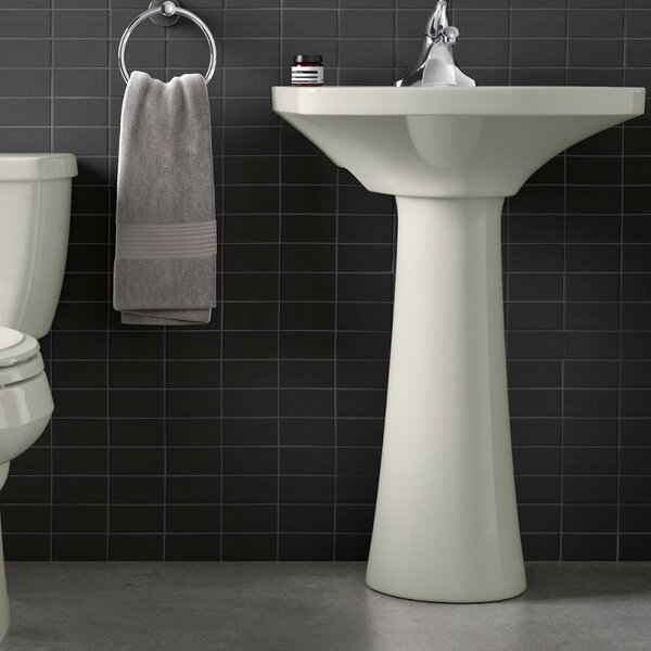 Cimarron Ceramic 23 Pedestal Bathroom Sink with Overflow by Kohler