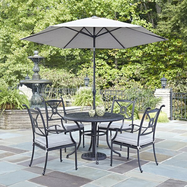 Lansdale 7 Piece Dining Set with Cushions and Umbrella by Darby Home Co