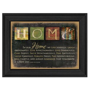 'In Our Home' Framed Textual Art by Andover Mills