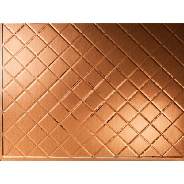 MiniQuilted Backsplash Wall Paneling 18 x 24 Field Tile in Brushed Copper by MirroFlex