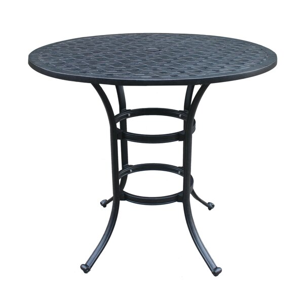 Waddington Aluminum Bar Table by Fleur De Lis Living