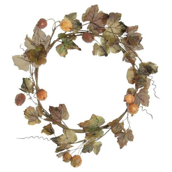 18 Dried Grape Leaf Wreath by Select Artificials