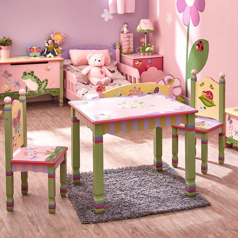 Fantasy Fields Magic Garden Kids 3 Piece Table & Chair Set & Reviews ...