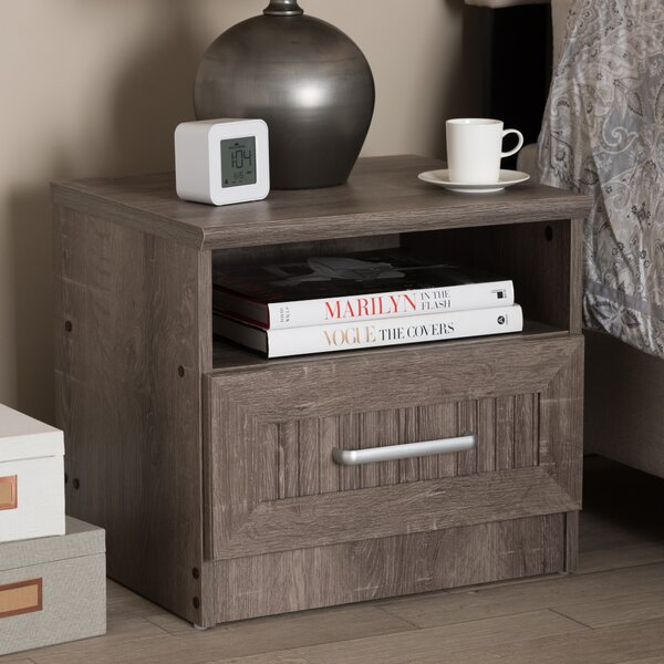 Teixeira 1 Drawer Nightstand by Union Rustic