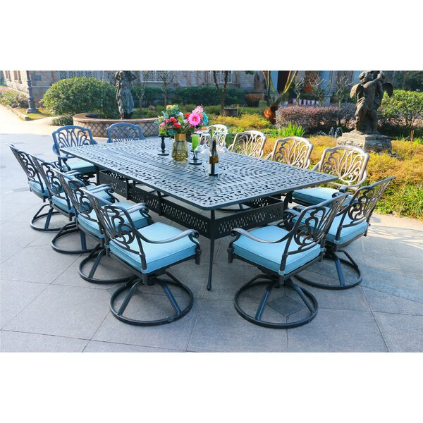 Banda Aluminum 13 Piece  Dining Set with  Cushions by Canora Grey