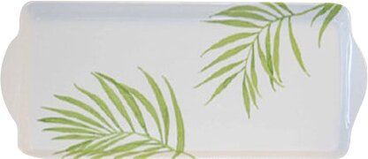 Bamboo Leaf Melamine Tidbit Rectangle Serving Platter by Corelle