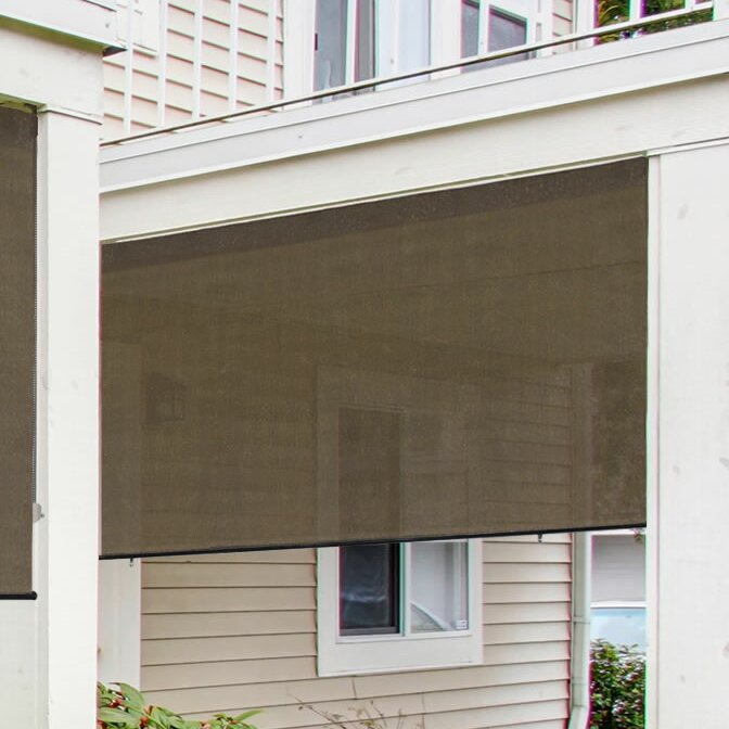 Radiance Radiance Exterior Solar Shade 6 ft. W x 6 ft. D Retractable ...