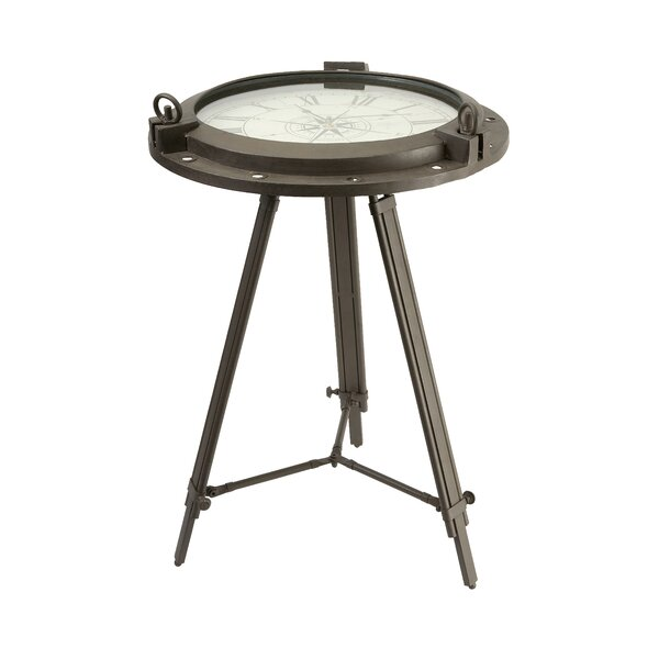 Melancon Tripod Clock End Table by Williston Forge