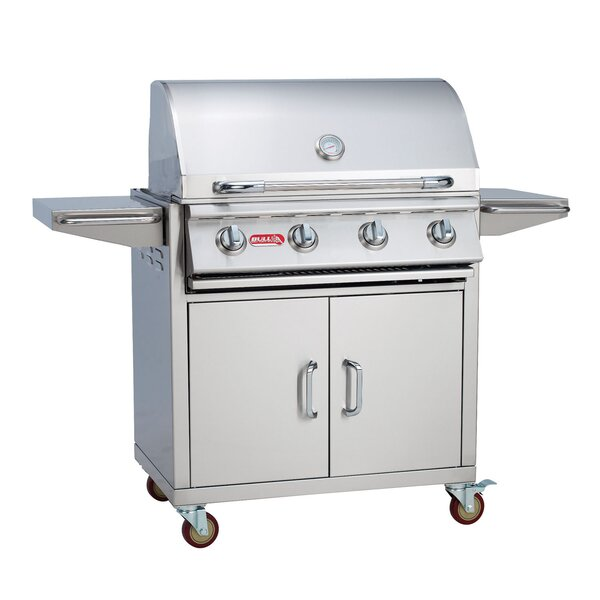 Outlaw 4-Burner Propane Gas Grill with Cabinet by Bull Outdoor Products