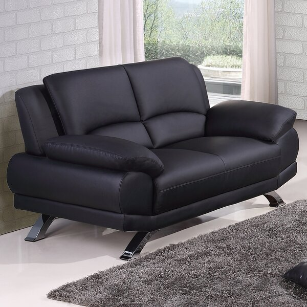 Good Quality Leather Loveseat by Hokku Designs by Hokku Designs