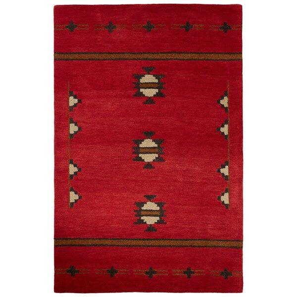 Zachary Hand-Woven Wool Red Area Rug by Birch Lane™