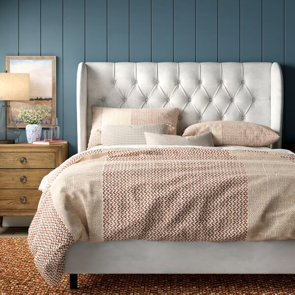 Alcantara Diamond Upholstered Standard Bed by Willa Arlo Interiors