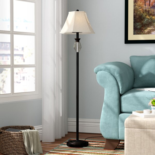 Sampson Glass and Metal 58.5 Floor Lamp by Andover Mills