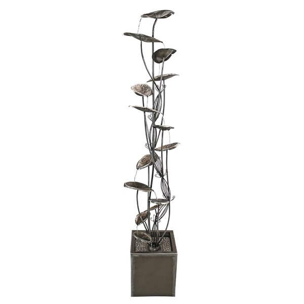 Metal Leaf Cascading Tower Fountain by Wildon Home ®