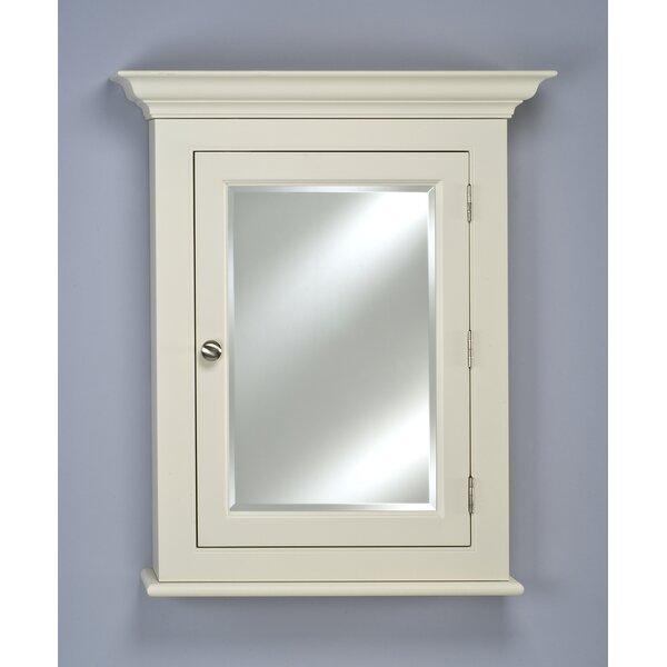 Violetta Surface Mount Framed 1 Door Medicine Cabinet with Adjustable Shelves
