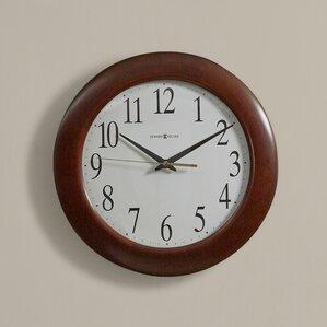 cherry wood wall clocks you'll love | wayfair