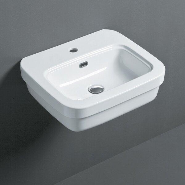Leavitt Ceramic Rectangular Vessel Bathroom Sink with Overflow by Bissonnet