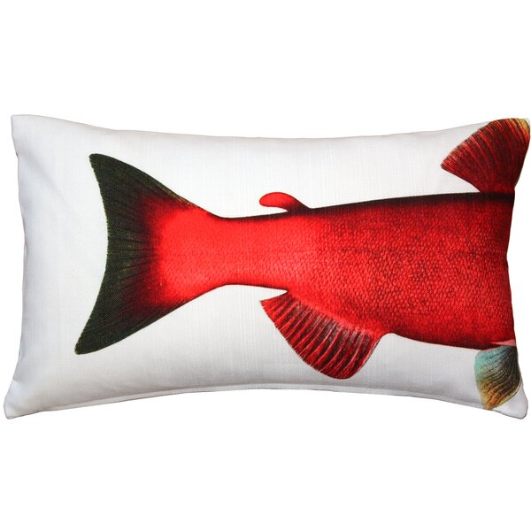 Maisy Salmon Fish Indoor/Outdoor Lumbar Pillow