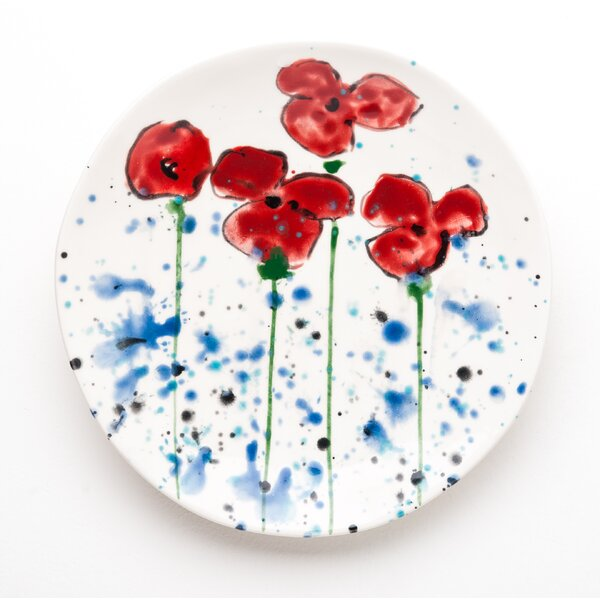Poppies 9 Salad or Dessert Plate (Set of 4) by Abigails