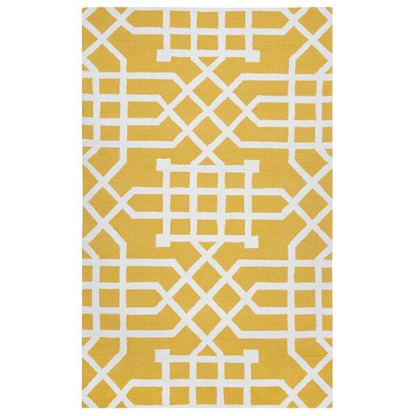 Angela Hand-Tufted Yellow Indoor/Outdoor Area Rug by Mercer41