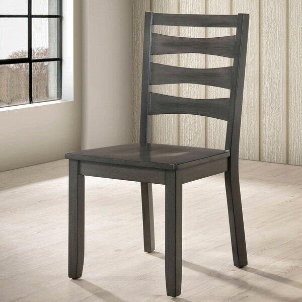 Almar Ladder Back Side Chair In Warm Gray (Set Of 2) By Gracie Oaks