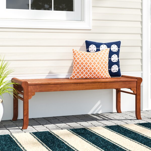 Amabel Wooden Picnic Bench by Beachcrest Home Beachcrest Home