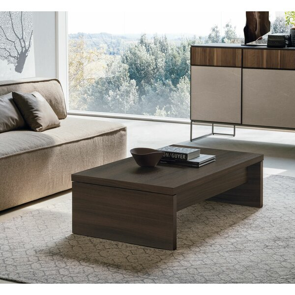 Cosmo Lift Top Extendable Sled Coffee Table With Storage By YumanMod