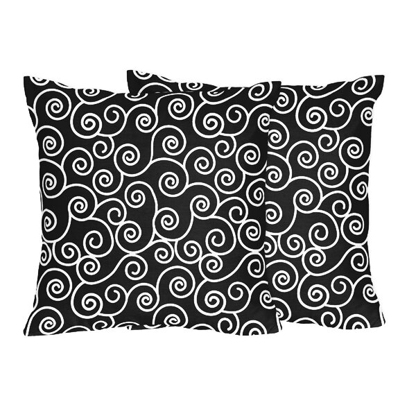 Kaylee and Madison Scroll Cotton Throw Pillow (Set of 2) by Sweet Jojo Designs