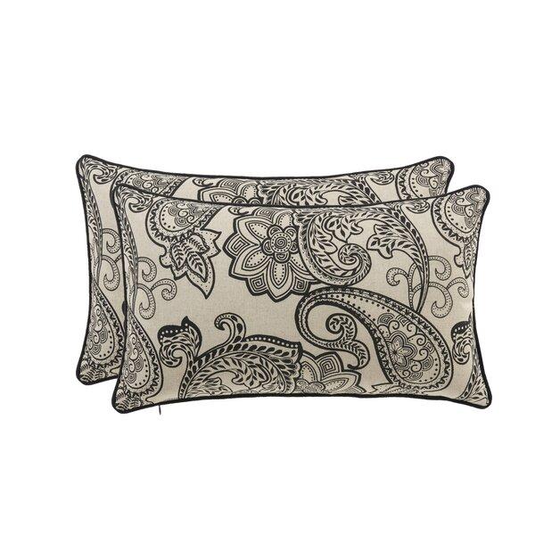 Paisley Lumbar Pillow (Set of 2) by 14 Karat Home Inc.