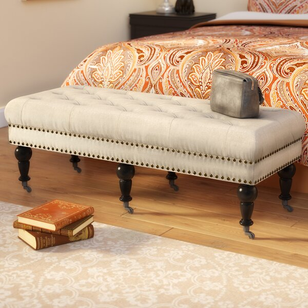 Sands Upholstered Bench by Charlton Home