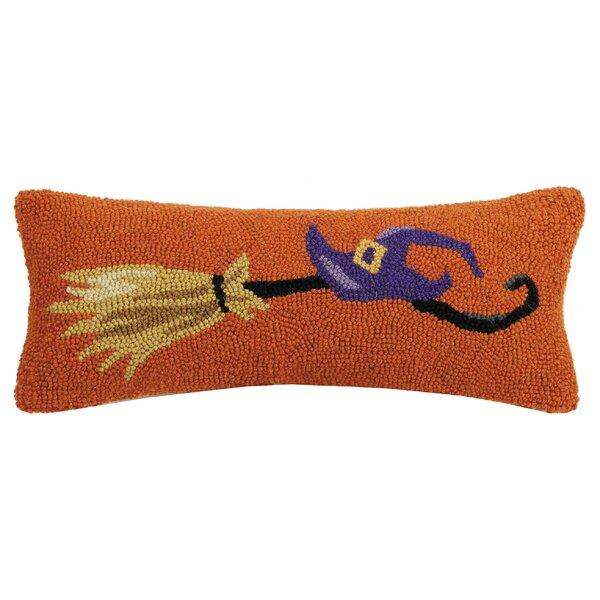 Mckeel Broom Hook Wool Lumbar Pillow by The Holiday Aisle