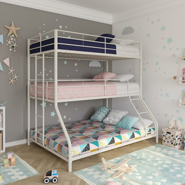 Everton Metal Triple Bed By Isabelle & Max by Isabelle & Max 2020 Sale