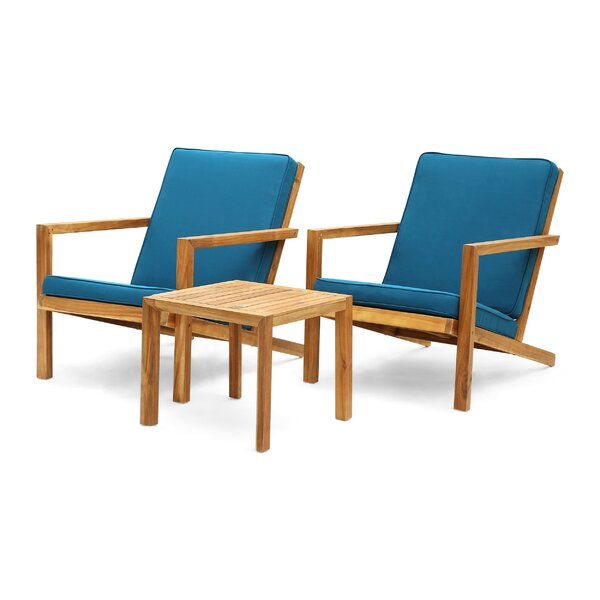 Isabela Outdoor 3 Piece Set with Cushions by Millwood Pines Millwood Pines