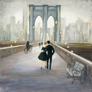 Bridge to New York Painting Print on Wrapped Canvas by East Urban Home