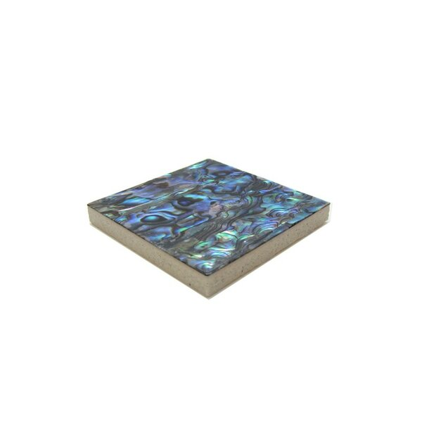 2 x 2 Authentic SeaShell Tile Decorative Inset in Blue/Green Abalone (Set of 12) by Matrix-Z