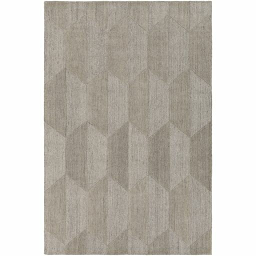 Beatrice Hand-Tufted White/Medium Gray Area Rug by Langley Street