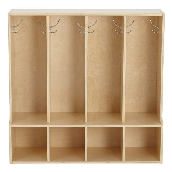 Birch Streamline 4 Section Coat Locker with Bench by ECR4kids