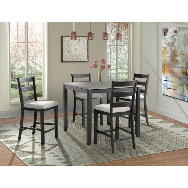 Mavis 5 Piece Counter Height Pub Table Set By Alcott Hill