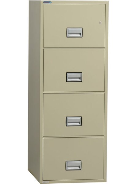 4-Drawer Vertical Filing Cabinet by Phoenix Safe I