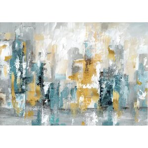 u0027city views iiu0027 painting print on wrapped canvas u0027