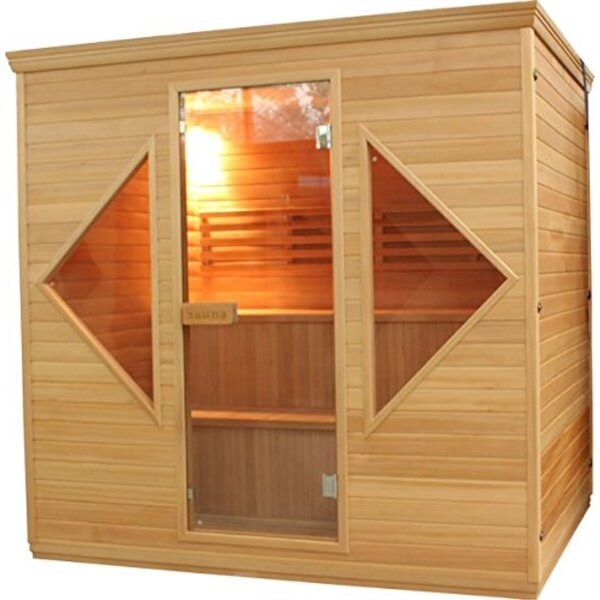 Canadian Cedar Wood 6 Person Steam Sauna by ALEKO