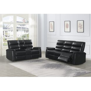 Ikey 2 Piece Faux Leather Reclining Configurable Living Room Set by Red Barrel Studio®