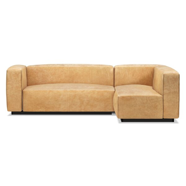 Cleon Small Leather Modular Sectional By Blu Dot