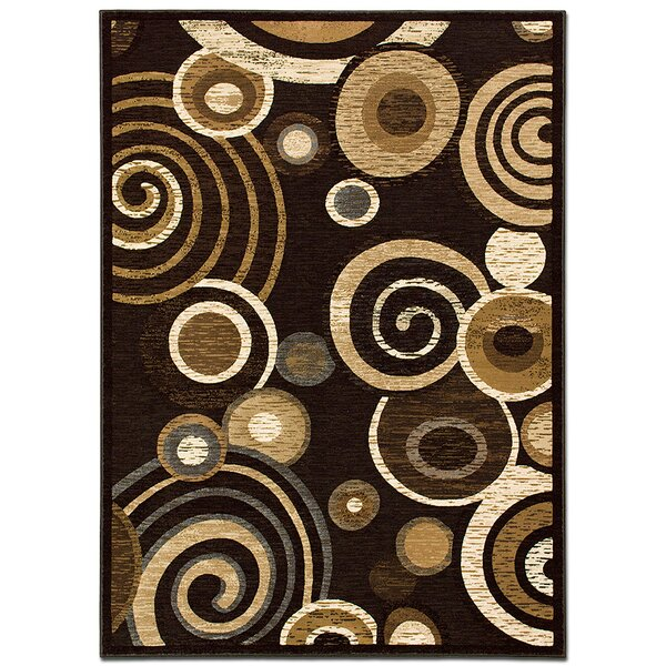 Circles Chocolate Area Rug by AllStar Rugs