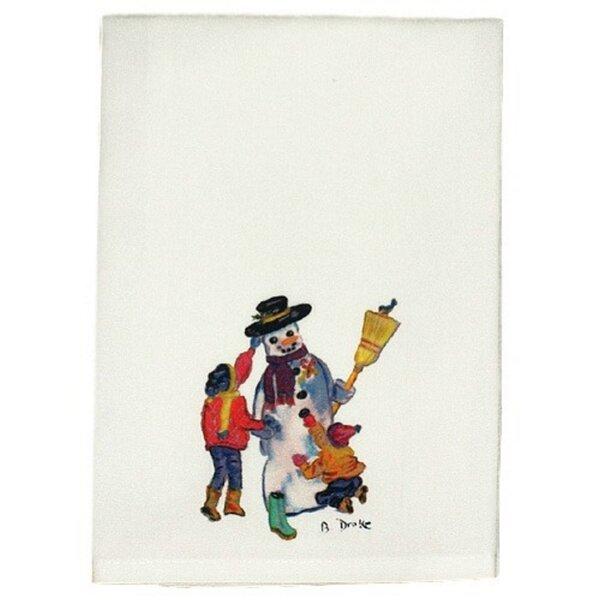 Holiday Snowman Hand Towel (Set of 2) by Betsy Drake Interiors