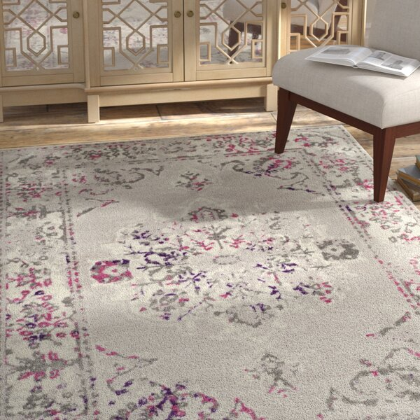 Doty Gray/Pink Area Rug by Bungalow Rose