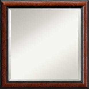Amanti Art Regency Mahogany Square Wall Mirror