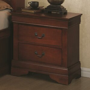 Guffey Traditional 2 Drawer Wood Nightstand by Laurel Foundry Modern Farmhouse